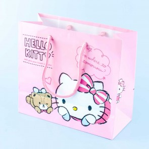 Hello Kitty Striped Ribbon Gift Bag