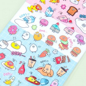 Oops Clumsy Food Stickers