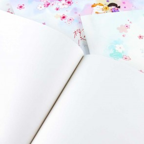 Sakura Cat & Girl Drawing Book