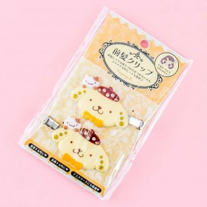 Pompompurin No-Trace Bangs Jewel Hair Clips