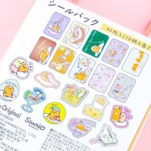 Gudetama Shopping Bag Sticker Set