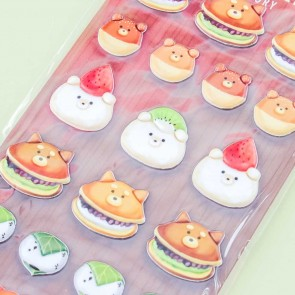 Animal Sweets Factory Dessert Puffy Stickers