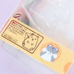 Chubby Fluffy Hamster Squishy - White
