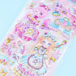Sweet Magical Girl Puffy Stickers