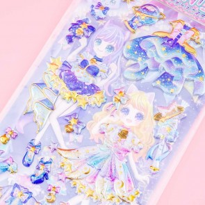Starry Magical Girl Puffy Stickers