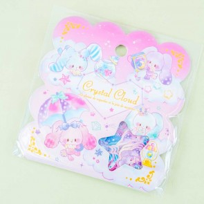 Crystal Cloud Rabbits Sticker Flakes