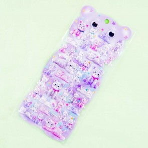 Googly Eyes Pastel Cats Puffy Stickers