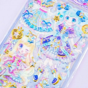 Magical Starry Princess Puffy Stickers