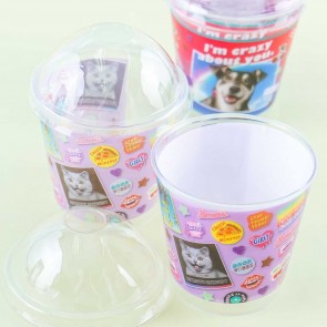 Retro Animals Wrapping Cups With Dome-Shaped Lids