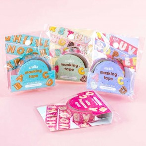 Biscuit Letters Masking Tape