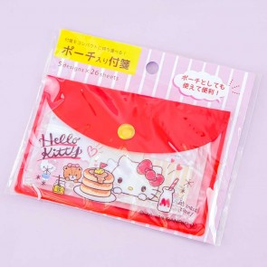 Hello Kitty Snack Time Sticky Notes With Pouch