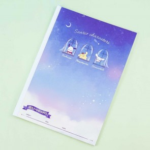 Sanrio Characters Starry Night Grid Notebook
