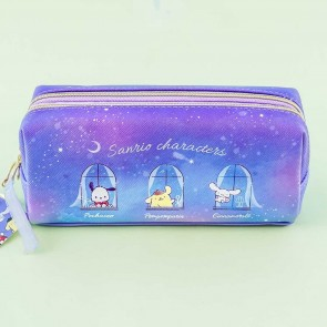 Sanrio Characters Starry Night Dual Compartment Pencil Case