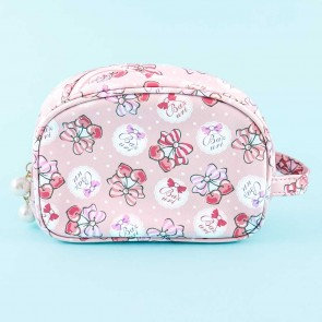 Bazurl Cherry Bow Oblong Cosmetic Bag