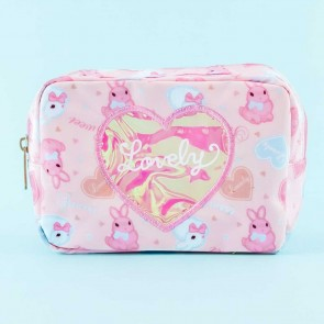 Lovely Bunny Hearts Cosmetic Bag