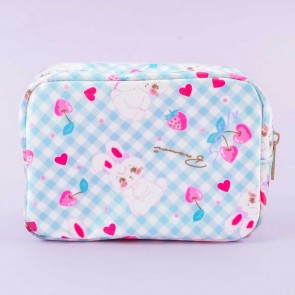 Lovely Gingham Bunny Cosmetic Bag