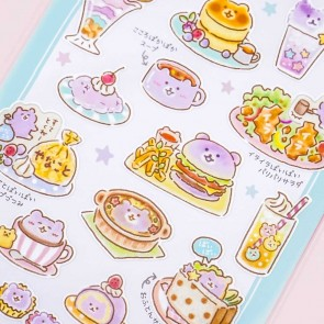 Bear Character Cafe Stickers