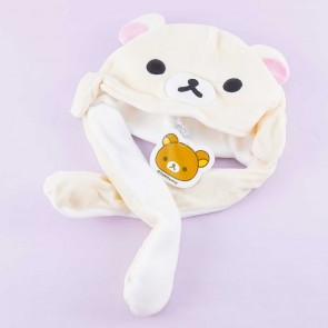 Korilakkuma Fluffy Hat With Movable Hands