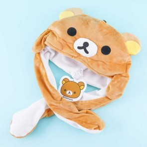 Rilakkuma Fluffy Hat With Movable Hands