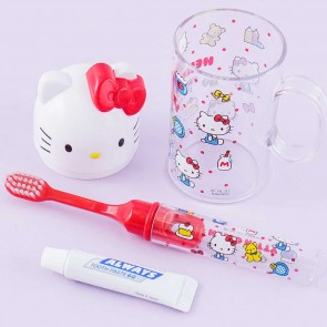 Hello Kitty Toothbrush Set With Cup