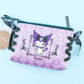 Kuromi Lolita Lace-Up Cosmetic Pouch