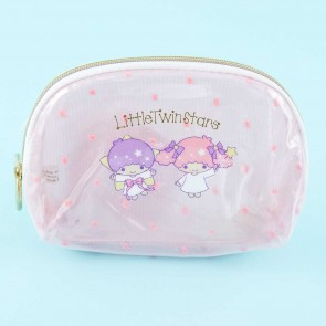 Little Twin Stars Dotted Shell-Shaped Cosmetic Pouch