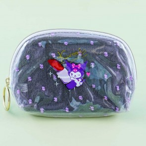 Kuromi Giant Lippie Shell-Shaped Cosmetic Pouch