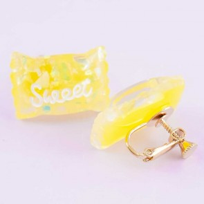 Sweet Candy Clipped Earrings