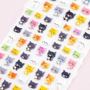 World Craft Funny Pop Seal Kitty Puffy Stickers