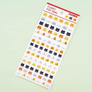 World Craft Funny Pop Seal Cat Stickers