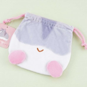 Hamster Pompon Hips Drawstring Pouch