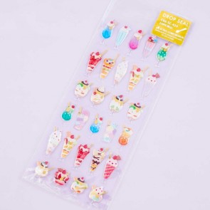Glittery Iced Desserts Drop Seal Stickers