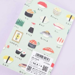 Delicious Shopping Street Notebook - Sushi