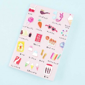 Delicious Shopping Street Notebook - Traditional Candy