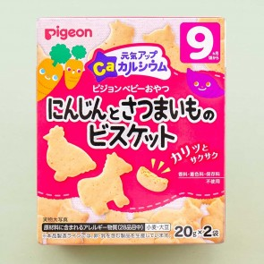 Pigeon Baby Energetic Up Ca Animal Biscuits - Carrot & Sweet Potato