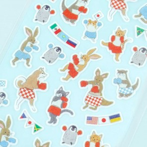 Animal Sports Large Seal Stickers - Boxing