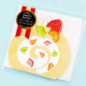 Sweets Buffet Greeting Card Set - Fruit Roll Cake