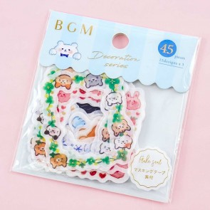 BGM Large Flake Seal Stickers - Cuddly Animals