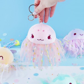 Fantasy Jellyfish Plushie Bag Charm - Medium